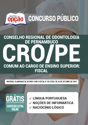 Apostila Concurso CRO PE 2020 PDF Download Fiscal
