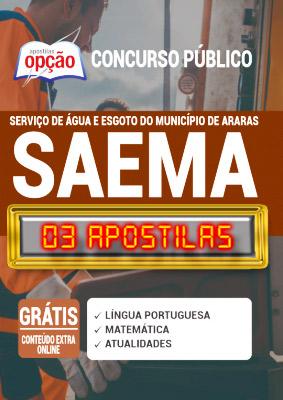 Apostila Concurso SAEMA Araras SP 2020 PDF Download Digital