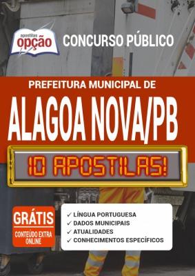 Apostila Prefeitura de Alagoa Nova PB 2020 PDF Download
