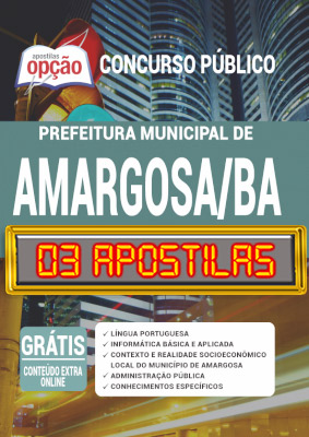 Apostila Prefeitura de Amargosa BA 2020 PDF Download Digital