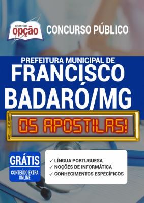 Apostila Prefeitura de Francisco Badaró MG 2020 PDF Download