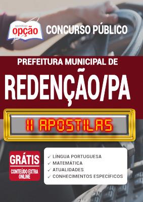 Apostila Prefeitura de Redenção PA 2020 PDF Download Digital