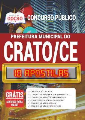Apostila Prefeitura do Crato CE 2020 PDF Download Digital