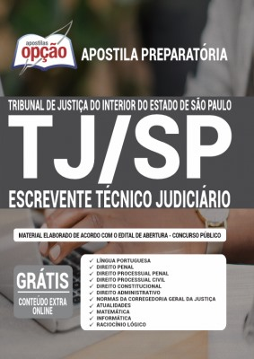 Apostila TJ SP 2021 PDF Download Escrevente Técnico Judiciário