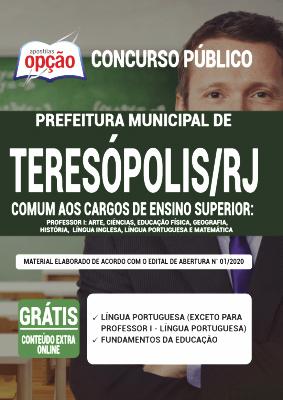 Apostila Teresópolis RJ 2020 PDF Download Digital Comum a Cargos de Professor