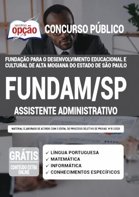 Apostila FUNDAM SP 2020 PDF Download Assistente Administrativo