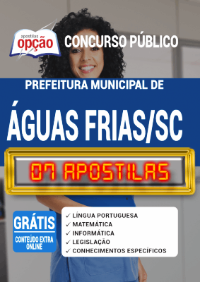 Apostila Concurso Águas Frias SC 2020 PDF Download Digital