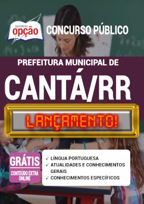 Apostila Prefeitura de Cantá RR 2020 PDF Download Digital