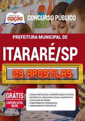 Apostila Prefeitura de Itararé SP 2020 PDF Download Digital