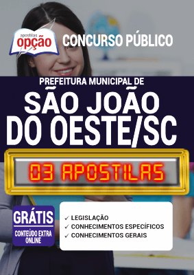 Apostila Prefeitura de São João do Oeste SC 2020 PDF Download