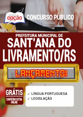 Apostila Santana do Livramento RS 2020 PDF Download Digital