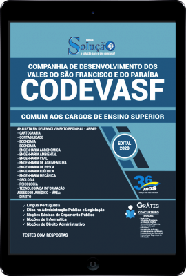 Apostila Concurso CODEVASF 2020 PDF Download Digital Cargos de Nível Superior