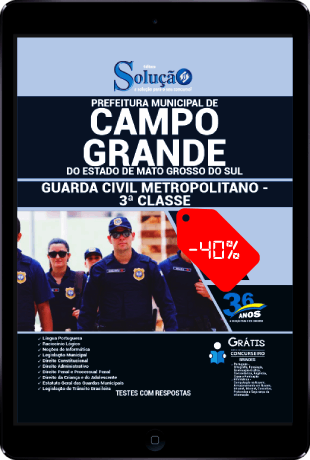 Apostila Concurso GCM Campo Grande MS 2020 PDF Download