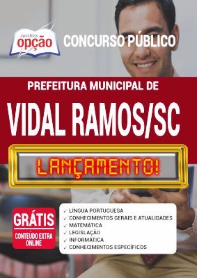 Apostila Concurso Vidal Ramos SC 2020 PDF Download Digital