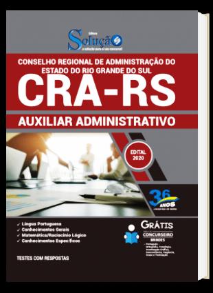 Apostila CRA RS 2020 PDF Download Auxiliar Administrativo