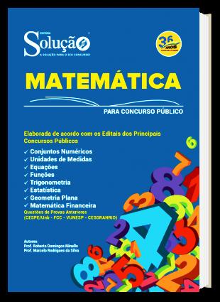 Apostila de Matemática para Concurso PDF Download Digital Editora Solução