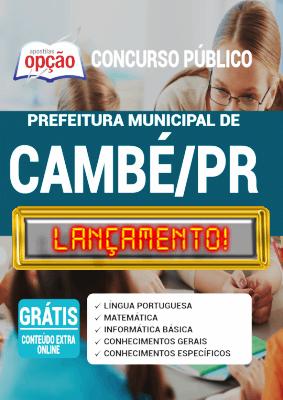 Apostila Prefeitura de Cambé PR 2020 PDF Download Digital
