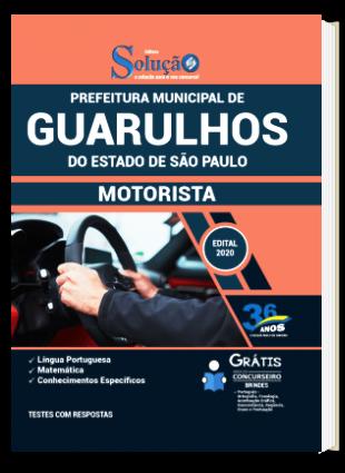 Apostila Prefeitura de Guarulhos SP 2021 PDF Download Motorista