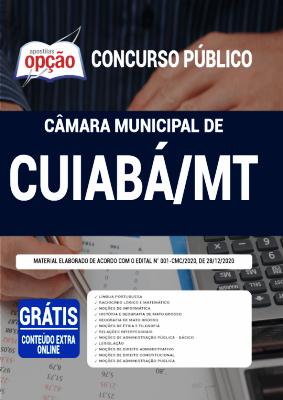 Apostila Câmara de Cuiabá 2021 PDF Grátis Conteúdo Online Editora Opção
