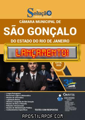 Apostila Concurso São Gonçalo RJ 2021 PDF Download Editora Solução