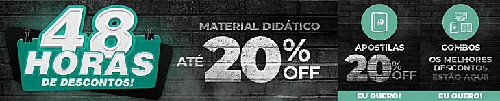 Promoção de 20% de Desconto em Apostilas de Concursos Públicos