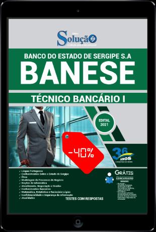 Apostila Concurso BANESE 2021 PDF Grátis 40% Desconto