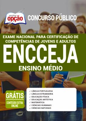 Apostila do ENCCEJA 2021 PDF Download Ensino Médio Editora Opção