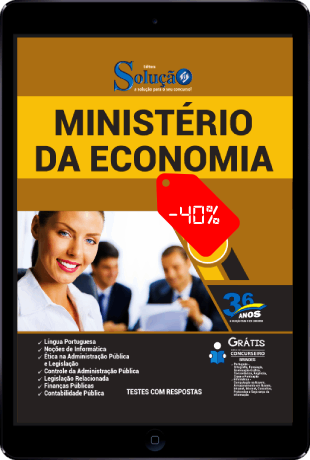 Apostila Ministério da Economia 2021 PDF Download Grátis Conteúdo Online