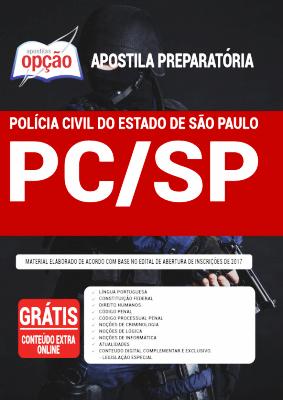Apostila Polícia Civil SP 2021 PDF Download Grátis Editora Opção