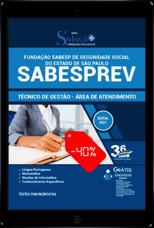 Apostila SABESPREV 2021 PDF Download Desconto