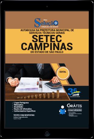 Apostila Setec Campinas 2021 PDF Grátis Conteúdo Online