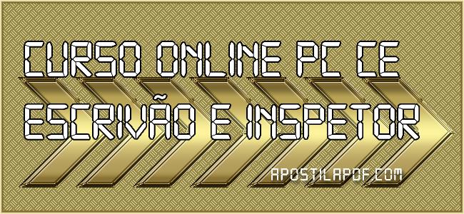 Curso Online PC CE 2021 Escrivão e Inspetor Completo
