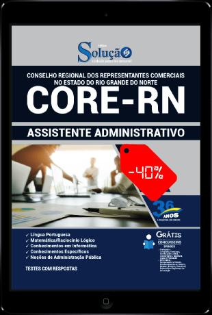 Apostila CORE RN 2021 PDF Download Grátis Assistente Administrativo
