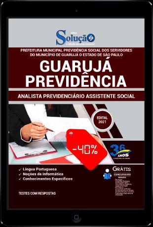 Apostila Guarujá Previdência SP 2021 PDF Grátis Analista Previdenciário Assistente Social