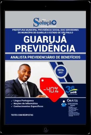 Apostila Guarujá Previdência SP 2021 PDF Grátis Analista Previdenciário de Benefícios