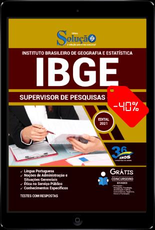Apostila IBGE 2021 Supervisor de Pesquisas PDF Download