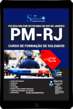 Apostila PM RJ 2021 PDF Download Grátis Soldado