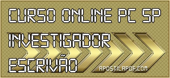 Curso Online PC SP 2021 Investigador Escrivão