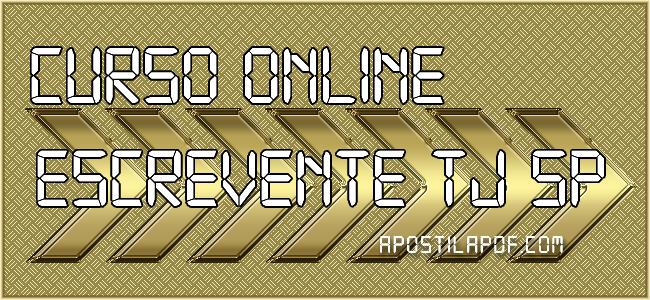 Curso Online TJ SP 2021 Escrevente