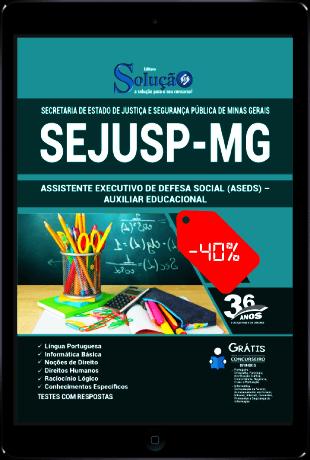 Apostila Assistente Executivo de Defesa Social SEJUSP MG 2021 PDF Grátis