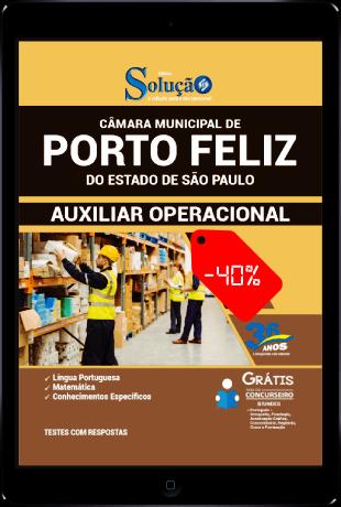 Apostila Câmara de Porto Feliz SP 2021 PDF Grátis Auxiliar Operacional