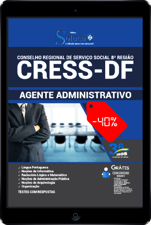 Apostila CRESS DF 2021 PDF Download Grátis Agente Administrativo