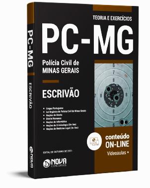 Apostila PC MG 2021 PDF Download Grátis Escrivão PC MG