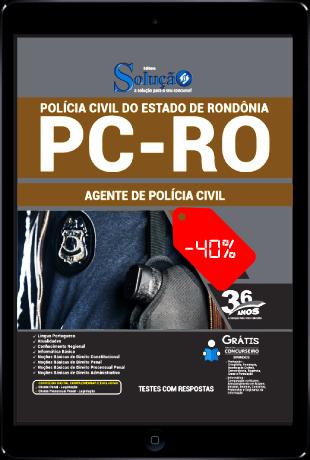 Apostila PC RO 2021 PDF Download Grátis Agente de Polícia Civil