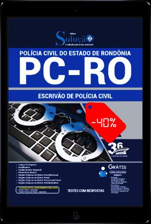 Apostila PC RO 2021 PDF Download Grátis Escrivão de Polícia Civil