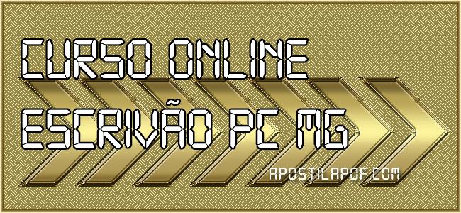 Curso Online Escrivão PC MG 2021