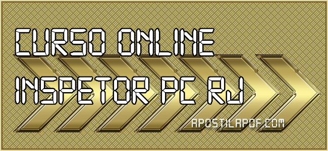 Curso Online Inspetor PC RJ 2021