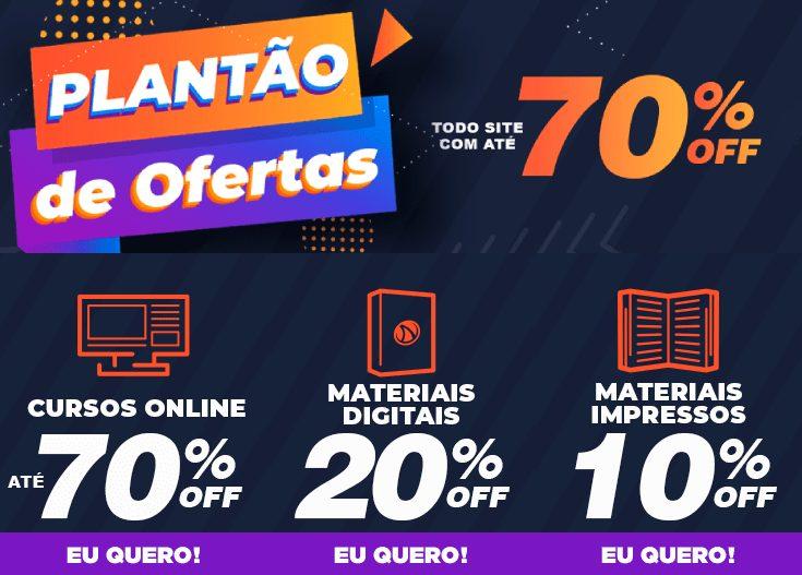 Promoção de até 70% de Desconto em Material de Concursos Públicos