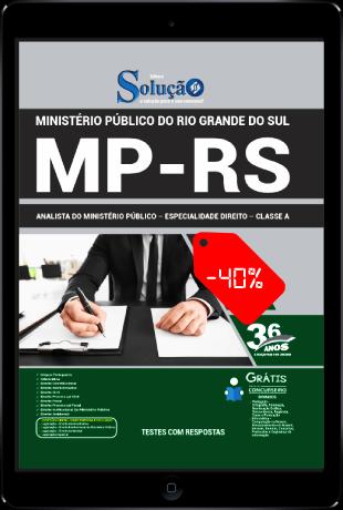 Apostila MP RS 2021 PDF Download Grátis Analista em Direito