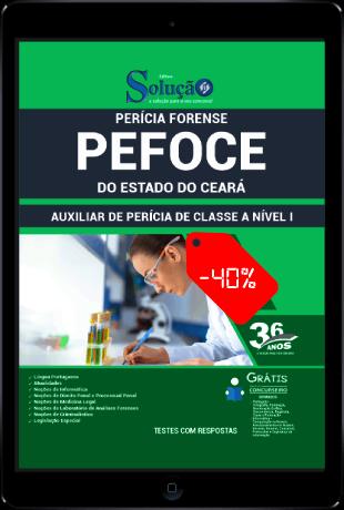 Apostila PEFOCE 2021 PDF Download Grátis Auxiliar de Perícia